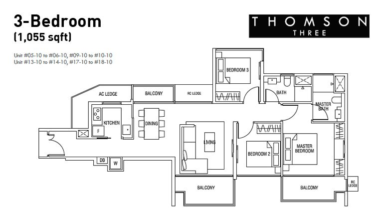 brilliant 3 bedroom condo floor plans. Thomson Three Floor Plan 3 Bedroom Condo at Bright Hill Drive  NewLaunch101