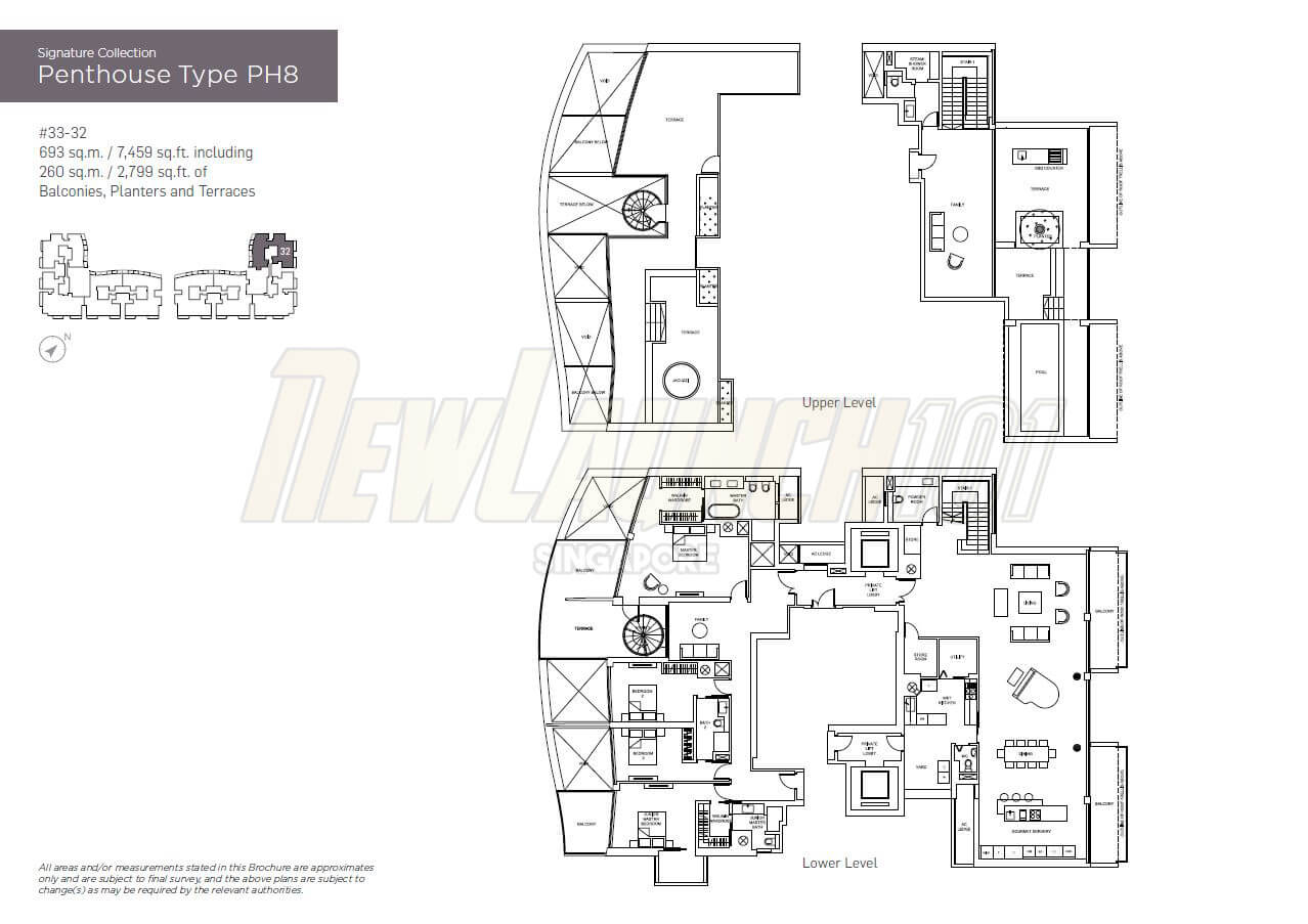 Marina One Residences Floor Plan Penthouse Type PH8