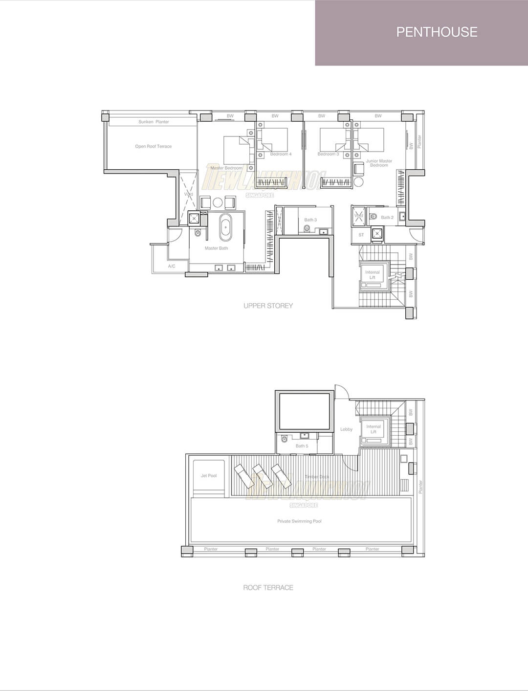 Nouvel 18 Floor Plan Penthouse Type PH2 Upper
