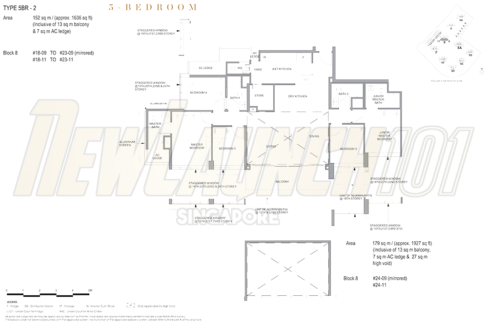Parc Clematis Floor Plan 5-Bedroom 1636