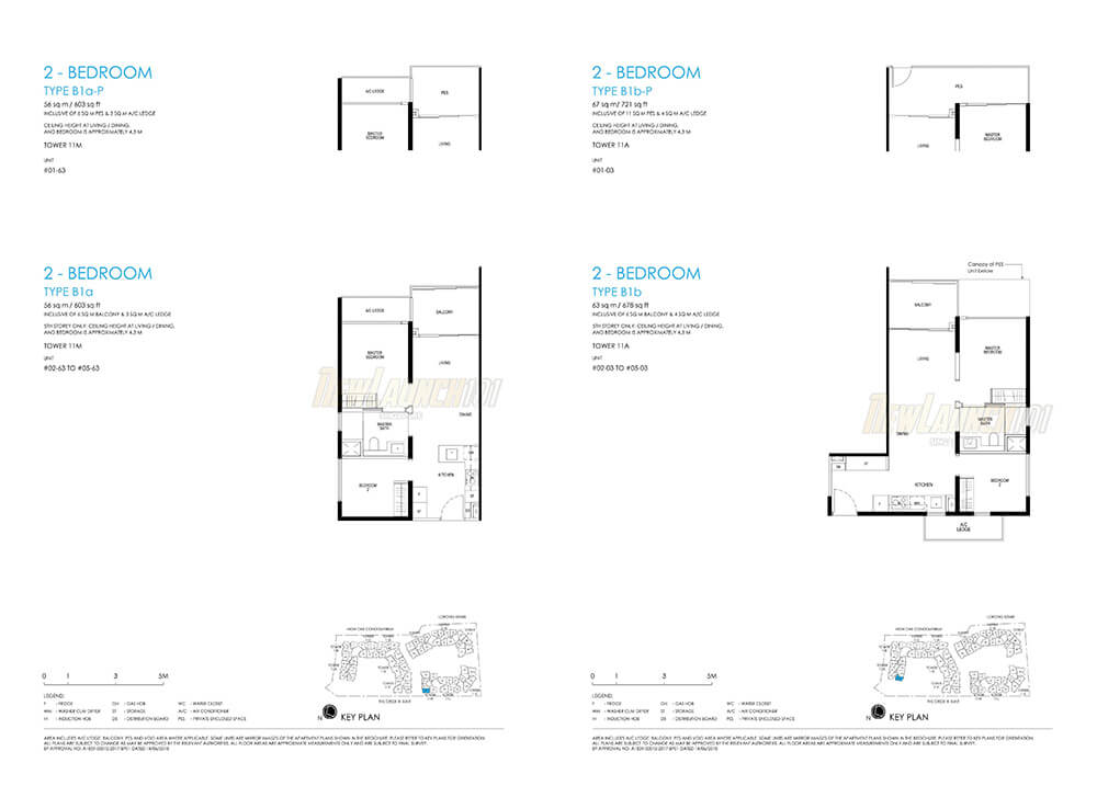Daintree Residence Floor Plan 2-Bedroom Type B1