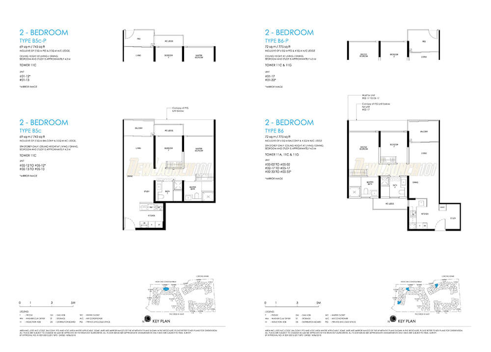 Daintree Residence Floor Plan 2-Bedroom Type B6