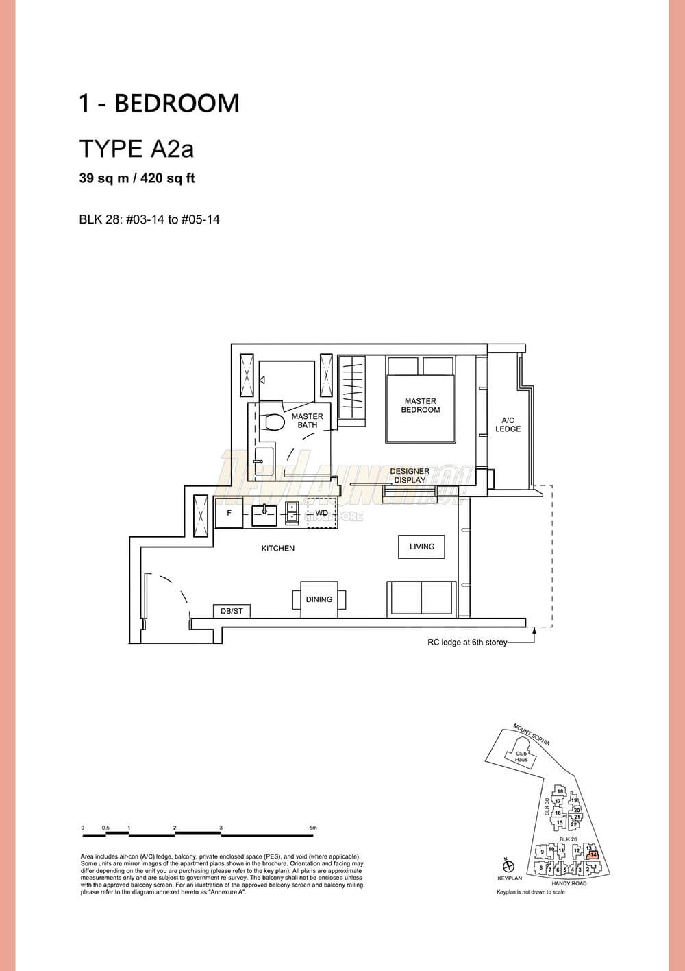 Haus on Handy Floor Plan 1-Bedroom Type A2a