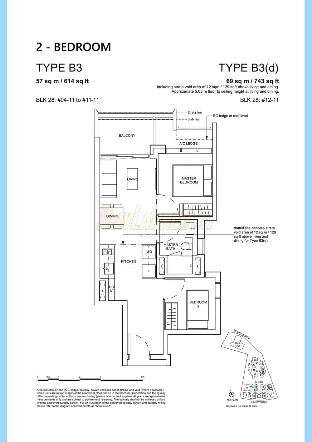 Haus on Handy Floor Plan 2-Bedroom Type B3