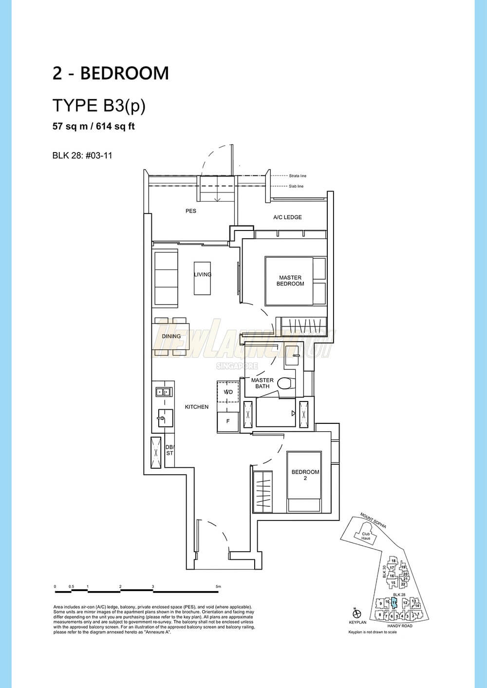 Haus on Handy Floor Plan 2-Bedroom Type B3p