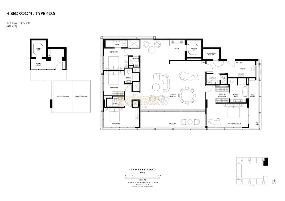 Meyerhouse Floor Plan 4-Bedroom Type 4D5