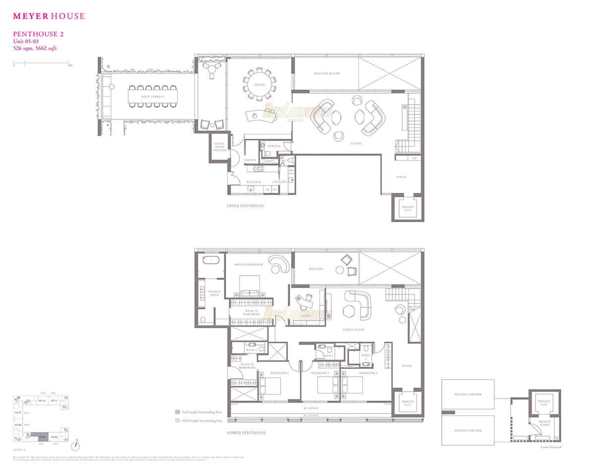 Meyerhouse Penthouse Floor Plan 5662